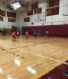Our 1st and 2nd Grade Boys playing on the big court at half time of our boys high school game against PHS!  The score was 2-0